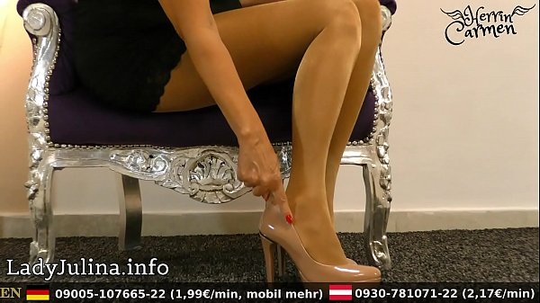 German, Nylon, Mature feet, High heels, Nylons, Mistress