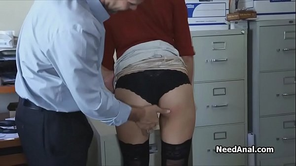 Boss, Secretary, Ass licking