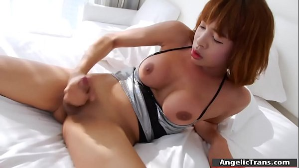 Asian shemale, Asian masturbation