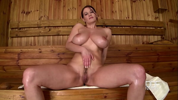 Sauna, Solo big tits, Big natural tits