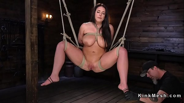 Huge tits, Natural tits, Hogtied, Caning, Caned